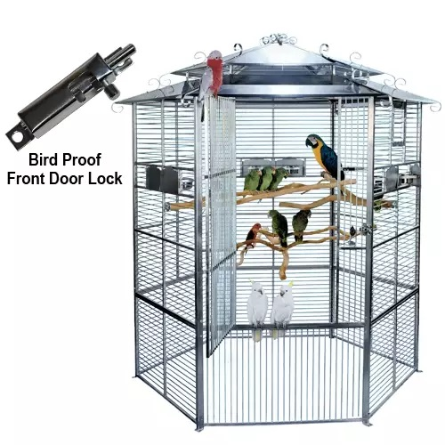 "605 Stainless Steel European Style Aviary 7 ft. 5""High x 6 ft.Diam."