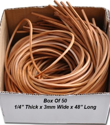 K581 - 50 Leather Strips 1/4""