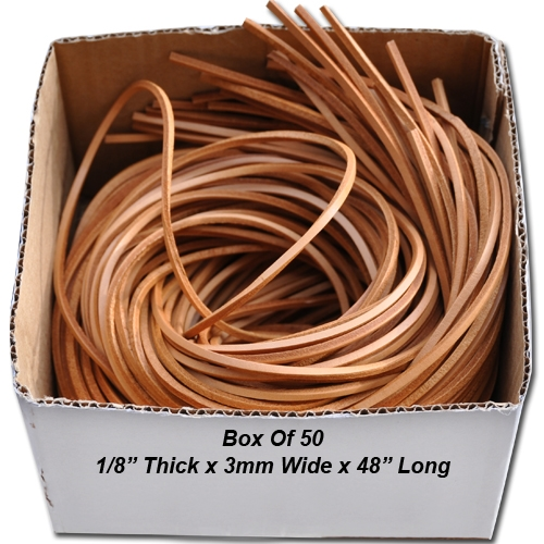 """K582 - 50 Leather Strips 1/8"""""""