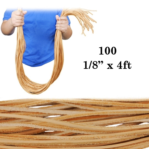 """K588 100 Leather Strips - 1/8"""""""