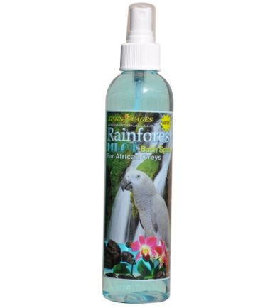 Rainforest Mist bird Bath Spray African Greys and Amazons 8oz