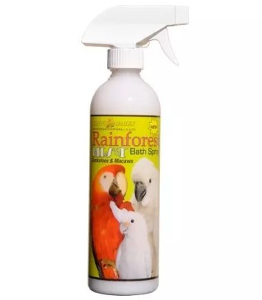 Rainforest Mist bird Bath Spray for Cockatoos & Macaws 17oz.