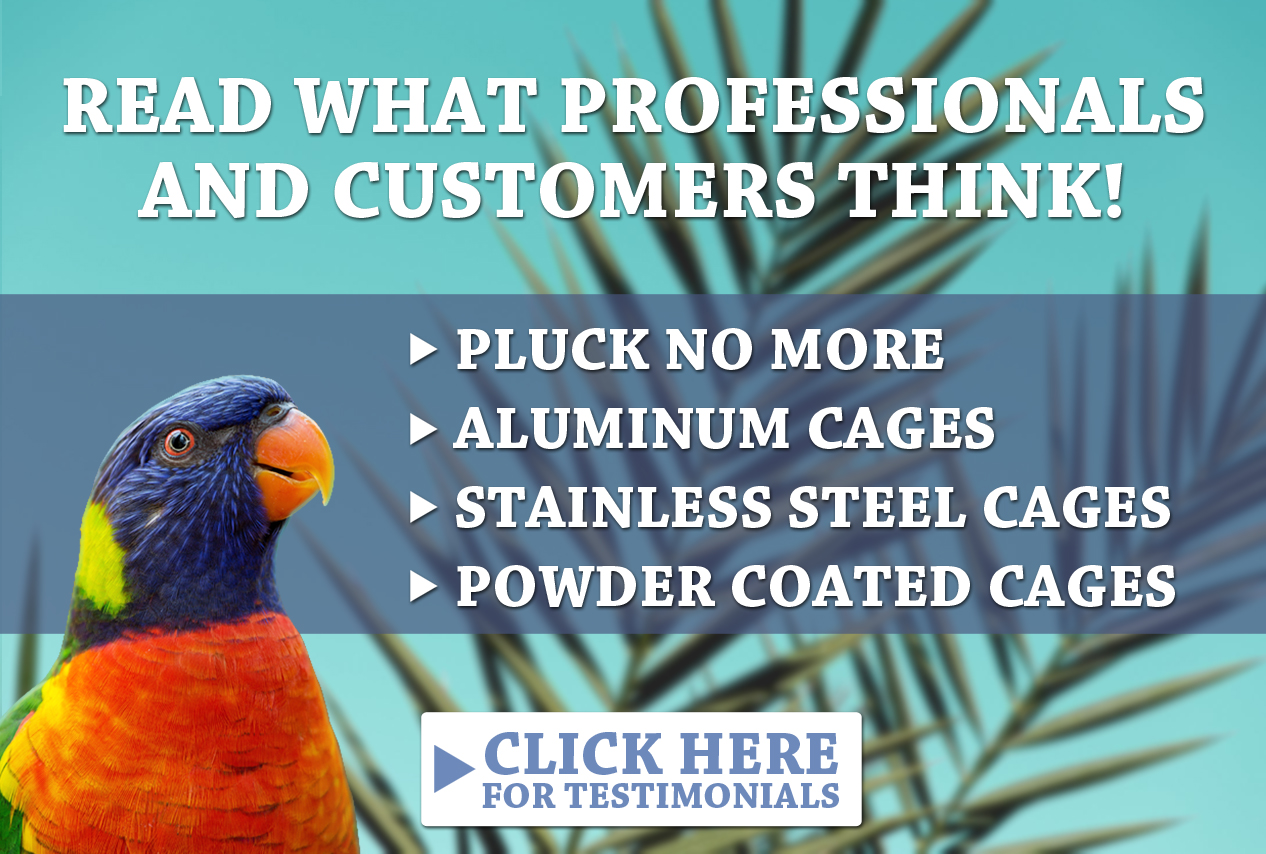 Pluck No More, Aluminum Cages, Stainless Steel Cages, Powder Coated Cages